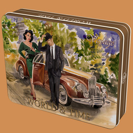 """Французский десерт"" конфеты шоколадные ж/б тм World & Time 210г"