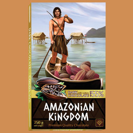 Королевство Амазонок шоколад темный с кешью