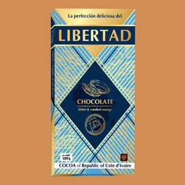 Либертад Шоколад горький 72% с апельсином