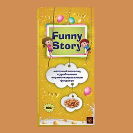 Funny Story Молочный шоколад с карамелизованным фундуком