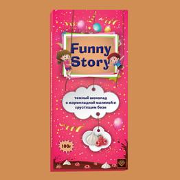 Funny Story Тем. шоколад с мармелад. малиной и хруст.безе