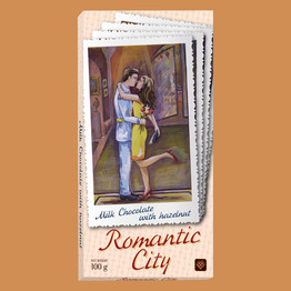 """Romantic city"" Молочный с фундуком"