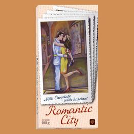 """""""Romantic city"""" Молочный с фундуком"""