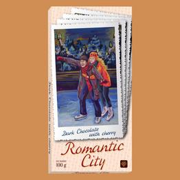"""""""Romantic city"""" темный шоколад с вишней"""