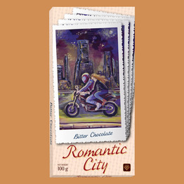 """Romantic city"" горький шоколад"