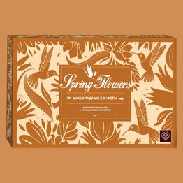Конфеты Spring Flowers из темн. шоколада с апел. кремов. начинкой и цукатами апельсина