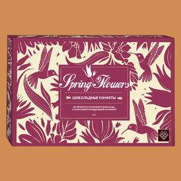 Конфеты Spring Flowers из темн. и молочного шоколада с кокос. и минд. начинками