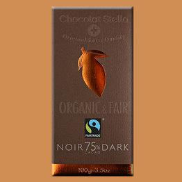 Стелла Темный шоколад органик 75% плитка .