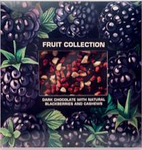 """Шоколад темный с натуральной ежевикой и кешью""""Fruit collection""""80г"""