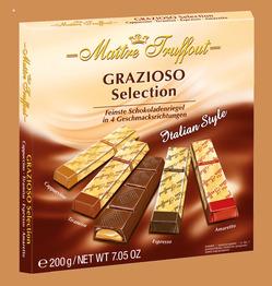 Maitre Truffout Набор шоколадных плиток Итальянский стиль 200г