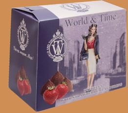Трюфели ручной работы со вкусом клубники тм World & Time 160г