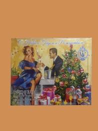 """Трюфели ручной работы в обсыпке из вишни """"С Новым годом и Рождеством """" тм World & Time"""