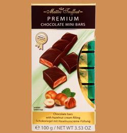 Maitre Truffout Плитки премиального молочного шоколада с кремом из лесного ореха 100г