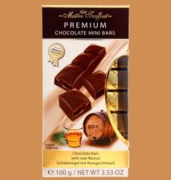 Maitre Truffout Плитки премиального молочного шоколада с ромовым кремом 100г