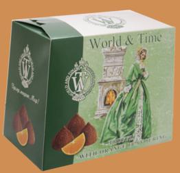 Трюфели ручной работы со вкусом апельсина тм World & Time 160г